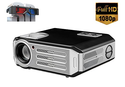 1080p Videoproiettore Full HD proiettore LED Videoproiettore 4800 lumen Video proiettore Home Cinema...
