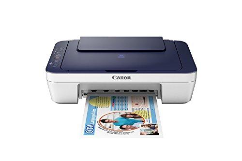 Canon Pixma E477 All-in-One InkJet Wifi Printer (White/Blue)