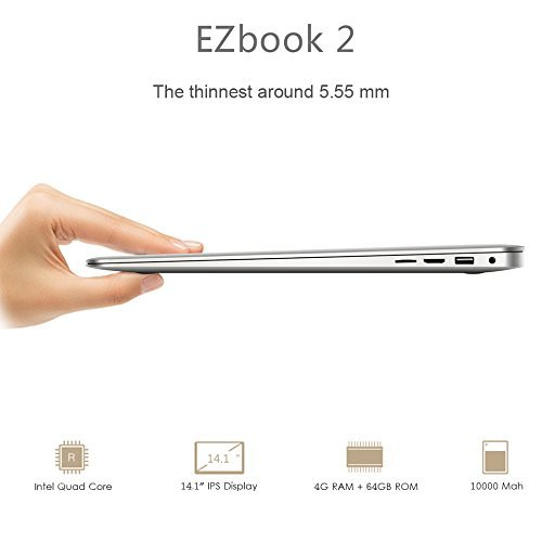 Jumper EZBook 2 Notebook - Windows 10, 14 pollici Full HD LED Display, 64GB Memoria Interna, Intel...