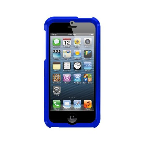 Trident Case Apollo Series Protective for iPhone 5 - Retail Packaging - Navy Blue/Orange