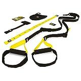 TRX TRX HOME KIT Suspension Trainer Home Attrezzo per Fitness, Unisex adulto, Nero/Giallo