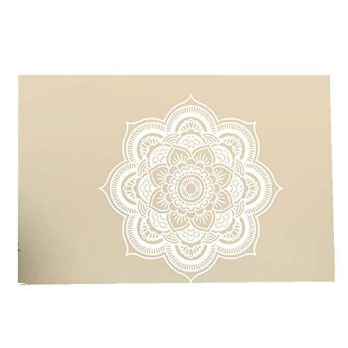 YWLINK Hermosa Mandala Flor Dormitorio Indio Arte De La Pared CalcomaníAs Arte Mural Vinilo para El Hogar No TóXico ProteccióN del Medio Ambiente A Prueba De Agua DecoracióN De La Familia