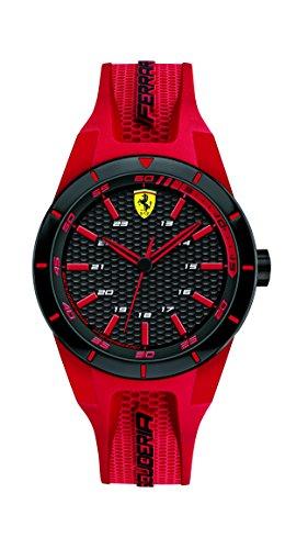 Orologio unisex analogico al quarzo cinturino in silicone rosso, Scuderia Ferrari 0840005