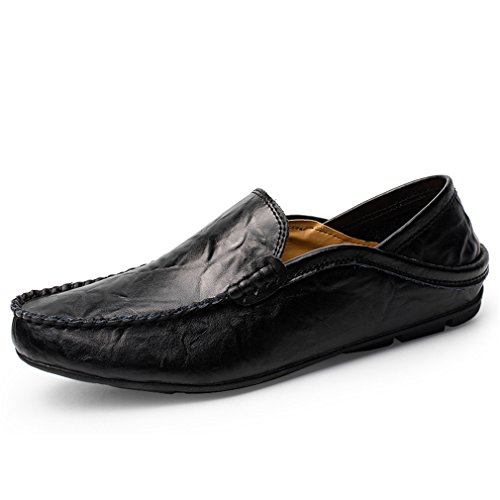3cbf3771e7acc Sunny Holiday Smart Casual Shoes for Men Loafers Slip on Shoes Mens Leather  Driving Shoes Black Blue Brown
