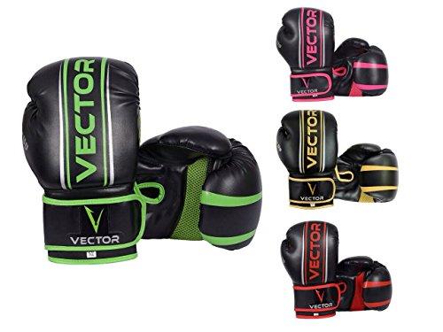 Vector Sports, guantoni realizzati a mano in pelle bovina Maya, stile professionale, da boxe,...