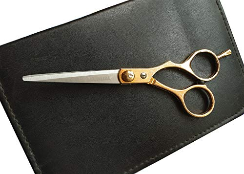 Foreign Holics Imported Home and Saloon Use Stainless Steel Golden Multi-Purpose Cutting scissor (6 Inches)