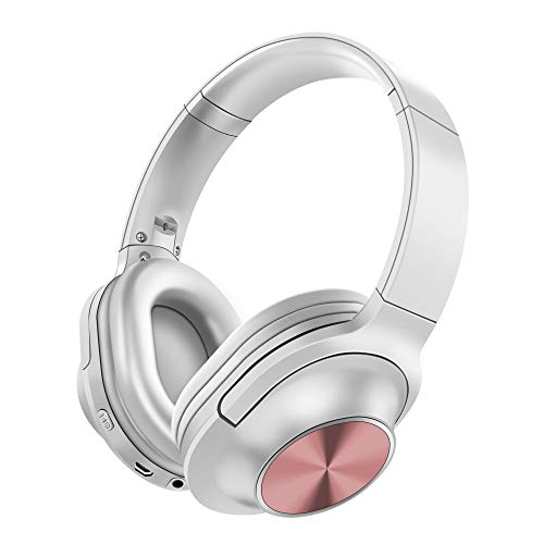 Auriculares-Inalmbrico-Diadema-Bluetooth-42-Plegable-Hi-Fi-Estreo-Headphone-Over-Ear-Cascos-con-35-mm-Audio-Jack-Micro-para-Smartphone-Tableta-Blanco