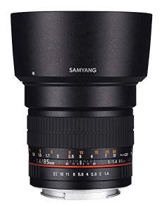 Samyang F1111203102 - Objetivo fotográfico DSLR para Nikon F AE (distancia focal fija 85mm, apertura f/1.4-22 AS IF UMC, diámetro filtro: 72mm), negro