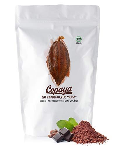 Kakaopulver BIO 1Kg | Rohes Kakao Pulver aus biologischem Anbau | Ohne Zucker | Unverwechselbares & Intensives Aroma | Aus Hochwertigen Peruanischen Kakaobohnen | 11{eb4fe7d76c7bd79eec8754eafb592cee32af012d72019b56ba2050672952a2a2} Fett | Stark Entölt | 1000g