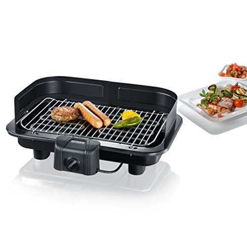 Severin PG 2791 Barbecue-Grill 2500W, 41x26 cm, colore: Nero