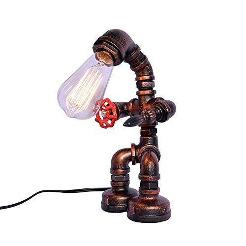 Lámpara De Mesa De Viento Industrial Retro Lámpara De Pie De Hierro Forjado Creativa Lámpara De Manguera Lámpara De Mesa Lámparas De Iluminación De Sala De Estar (Size : LED lamp)