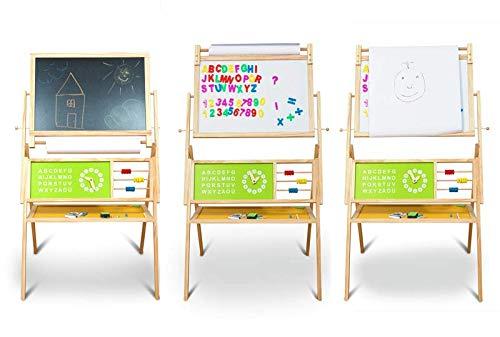 Coemo Kinder Standtafel Kreidetafel Maltafel Magnettafel Whiteboard Papierrolle Zubehör