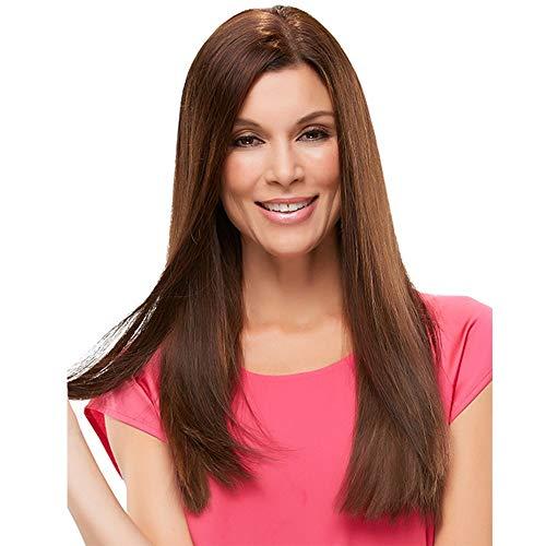 Parrucca europea e americana, cappa per capelli in fibra chimica lunga lanuginosa realistica dei...