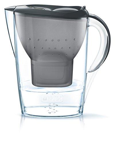 Brita Marella 2.4L water filter jug with cartridges bundle (black) (1 month of Brita Maxtra+) (1 cartridge)