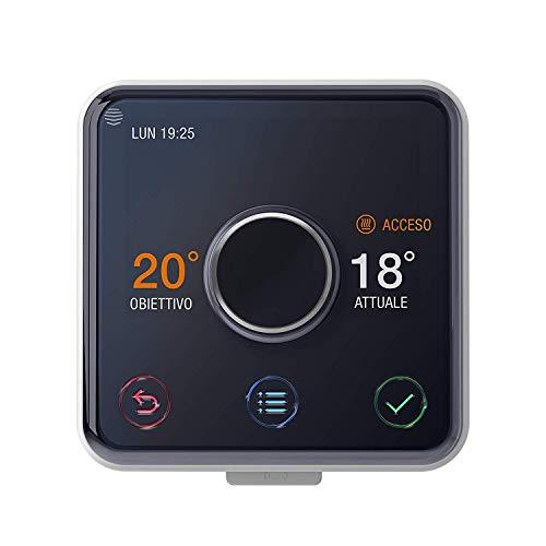 Hive IT7001874 Active Heating Kit Termostato Senza Installazione Professionale, Nero Lucido/Bianco