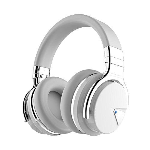 COWIN E7 Active Auriculares, Bluetooth, con Micrófono, Color Blanco