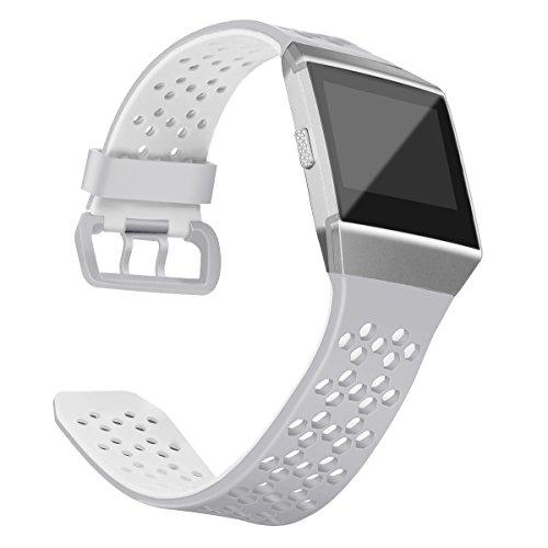 OenFoto Sportive Cinturino compatibili con Fitbit Ionic, Silicone Traspirante Morbido Ricambio Accessorio Cinturino con Anello Fissaggio per Fitbit Ionic Smart Watch, Donna, Uomo