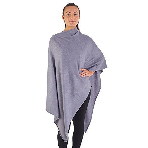 CityComfort Poncho Pullover per Donna Morbida Mantella Triangolare (Nero)