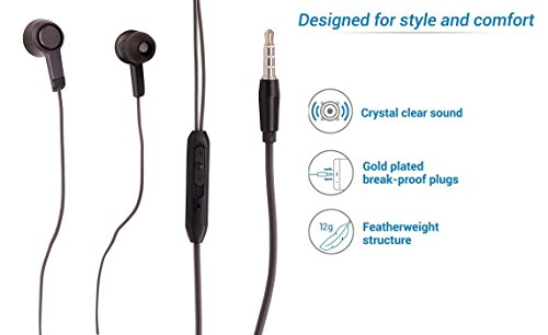 Firetalk Redmi Note 4 and Other Mobiles Dynamic Wired With Mic Headset.(Black)