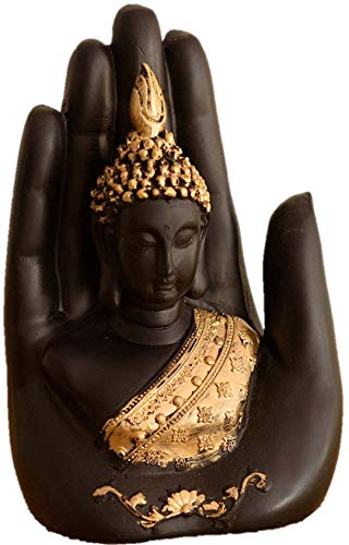 Global Grabbers Palm Buddha Idol Statue Showpiece