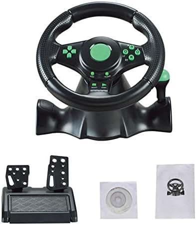 TUANMEIFADONGJI Trailblazer Racing Wheel - Gaming Lenkrad Für XBOX-360 / PS3 / P2 / PC (Schaltknauf - Gangschaltung - Schaltung - Gas- und Brems-Pedale - Vibration - Controller für Driving Games)
