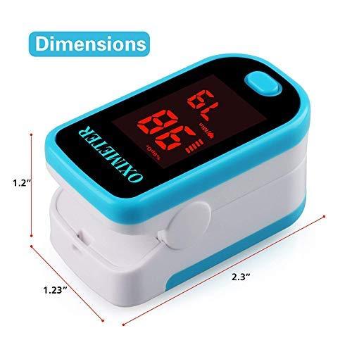 Sahyog Wellness LED Fingertip Pulse Blood Oxygen SpO2 Saturation Oximeter Monitor Pulsometros (White and Blue)
