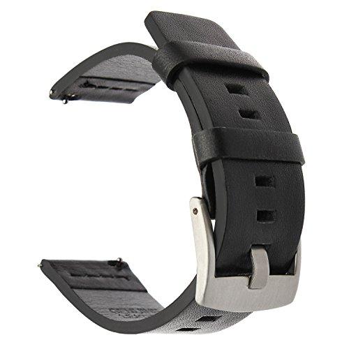 TRUMiRR per Cinturino Samsung Gear S3 Classic/Frontier, 22mm in Pelle grassa Cinturino per Moto 360 2 46mm Uomo, LG G Orologio Urbane, Vector, Amazfit