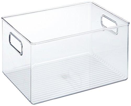 InterDesign Linus Organizer frigorifero, Contenitori in plastica robusta di grandi dimensioni,...