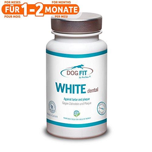 DOG FIT by PreThis® White Dental para Perros | para el sarro y la Placa Dental | Completamente Natural | ¡Certificado ISO!