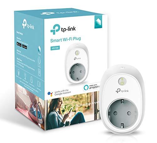 TP-Link Presa Wi-Fi HS100, Smart Plug Compatibile con Alexa e Google Home, Controllo dei Dispositivi...