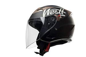 Westt® Jet · Mattschwarz Jethelm mit Abnehmbares Visier - ECE Zertifiziert 5