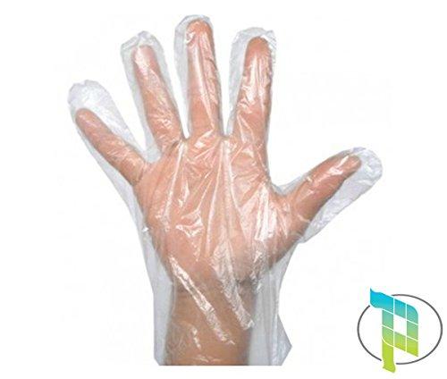Palucart 1000 guanti trasparenti monouso in polietilene guanti polietilene monouso