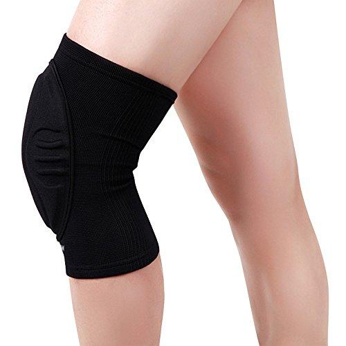 WESEAZON Ski Knieschoner Fallschutzausrüstung Klimaanlage Knieschoner Kniestrümpfe für Ärmel warme Leggings Rheuma Knieschoner Schwarz