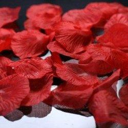 floristikvergleich.de 100 Rosenblätter aus Stoff rot Hochzeit Streublumen Blumenkinder Rosenblüten Tischdeko