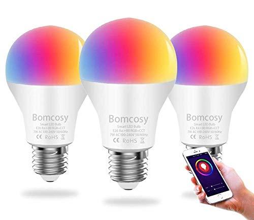 Lampadina Wi-Fi Smart Dimmerabile LED E27 RGBCW A60 7W Equivalente 60W 650 LM Telecomando con...