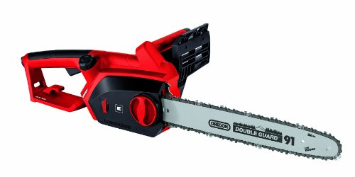 The Einhell GH-EC 2040 2000 W Tool-Less Electric Chainsaw features a 2000W motor with a strong gearing. This 5kg unit possesses an Oregon chain and blade to facilitate easy cuts and maintain durability. This chainsaw comes with a 40.6cm guide bar that is able to handle both light and heavy-handed tasks.