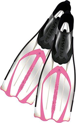 Cressi Unisex Flossen Pluma, transparent rosa, 39/40, CA176439