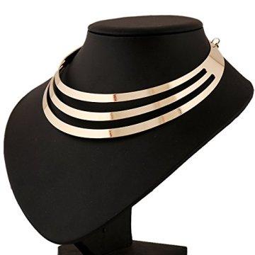 1pieza Vintage Multilayer Cadena de mujer, Egipto Estilo Collar para mujer, Golden Cadena kt003 5