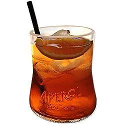 Glass Made Aperol Spritz - Coppia Bicchieri Artigianali da 400ml in Vetro da Cocktail Aperitivo