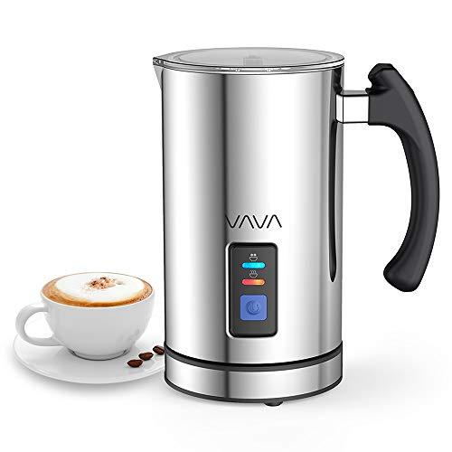 Montalatte Elettrico VAVA Schiumatore Acciaio Inox Caffè Latte Caldo Freddo Antiaderente Controllo Temperatura Strix Indicatore Livello,cappuccinatore