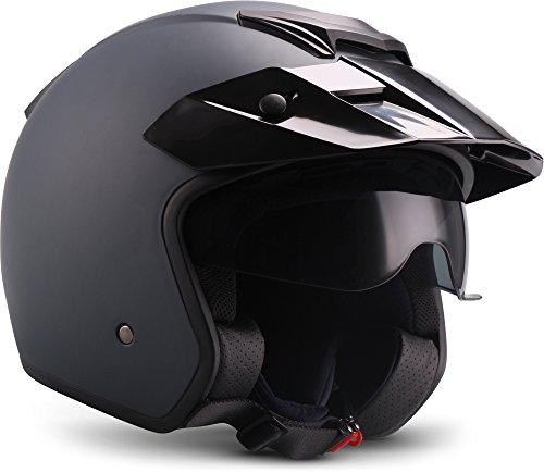 """Soxon  S77 \""""Navy\""""  Jet-Helm  Roller Bobber Motorrad-Helm Scooter-Helm Chopper Mofa  ECE zertifiziert  Visier  Extra kleine Helmschale  Click-n-Secure Verschluss  Tragetasche  L (59-60cm)"""