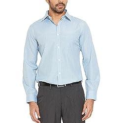 Auburn Hill Men's Formal Shirt (8907002747631_254725837_39_Aqua)