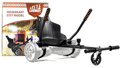 Sabway Hoverkart, sedia per monopattino elettrico, con luce a LED, universale, adattabile su...