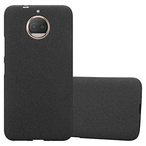 Cadorabo Funda para Motorola Moto G5S Plus en Frost Negro - Cubierta Proteccíon de Silicona TPU Delgada e Flexible con Antichoque - Gel Case Cover Carcasa Ligera