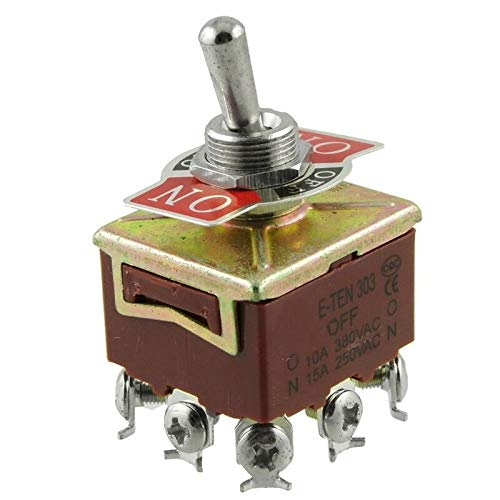 Branded SLB Works New 10X(3PDT On/Off/On 3 Postion 9 Screw Terminals Toggle Switch AC 250V 15A Q9V7)