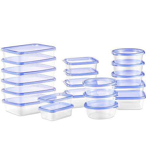 Deik Contenitori Alimentari, Set contenitori per Alimenti plastica Senza BPA, Impilabile 20 Pezzi,...