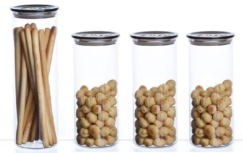 Bohemia Cristal – Tarros para conservar alimentos (4 unidades)