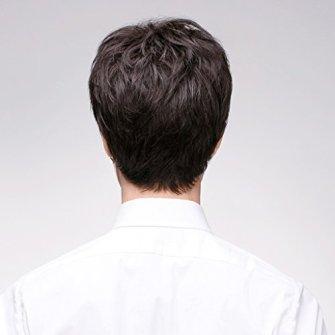 LRXG-Peluca-Peluca-de-Pelo-Corto-Europeo-y-Americano-de-los-Hombres-de-Moda-Natural-Esponjoso-Masculino-de-Alta-Calidad