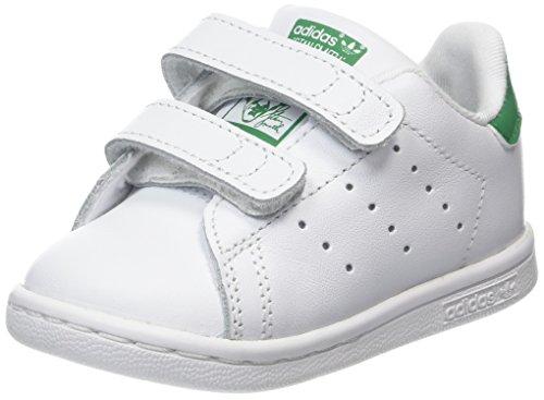 adidas Stan Smith CF I, Scarpe da Fitness Unisex-Bambini, Bianco (Ftwbla/Verde 000), 25 EU