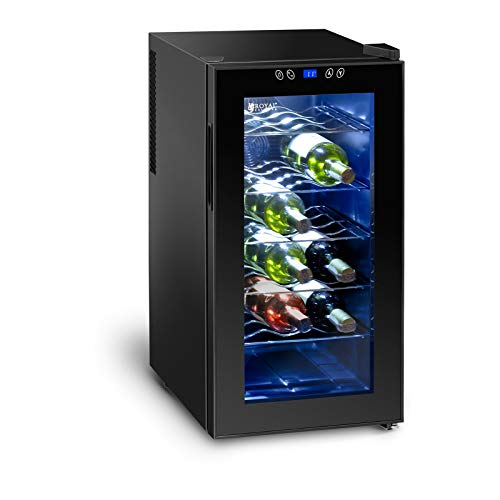 Royal Catering Cantinetta Frigo per Vino Cantina Vini RCWI-52L (Doppi vetri, 50 litri, 18 bottiglie,...